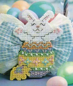 Welcome Easter Bunny Plastic Canvas Pattern Instructions Only from A Magazine | eBay
