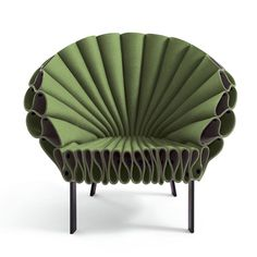 peacock chair | The Peacock Chair is created out of three single sheets of felt and a minimal metal frame