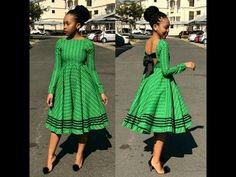 sotho shweshwe dresses for African women - fashion Latest African Fashion Dresses, African Inspired Fashion, African Print Dresses, African Print Fashion, Africa Fashion, African Prints, Ankara Fashion, African Fabric, Tribal Fashion