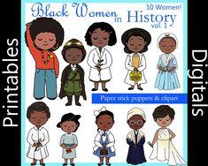 Black Kids, Black Women, Phillis Wheatley, Bessie Coleman, Room On The Broom, Paper Puppets, Good Night Moon, Black Artwork, Art Lessons Elementary