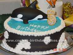 Killer Whale Cake (for kadence's Whale Obsession right now :))