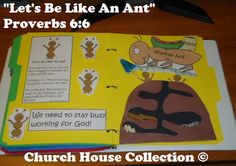 """Church House Collection Blog: """"Let's Be Like An Ant"""" Folder Lapbook Craft For Kids In #Children's Church or #Sunday School"""