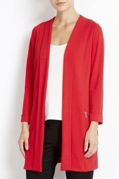 Photo 1 of Red Morgan Longline Jacket Blazers For Women, Jackets For Women, Clothes For Women, Work Clothes, Light Jacket, Long A Line, Blazer Jacket, Fashion Dresses, Trousers