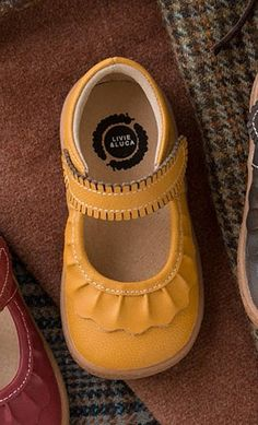 Livie and Luca Ruche Butterscotch Girls Shoes PREORDER