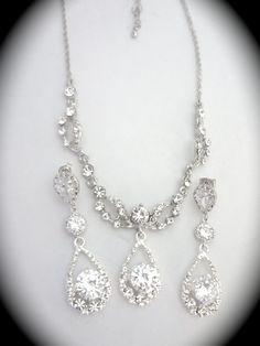 Hey, I found this really awesome Etsy listing at https://www.etsy.com/listing/183989462/bridal-jewelry-set-crystal-rhinestone