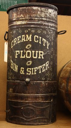 Cream City Flour Bin & Sifter
