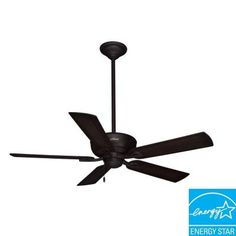 Hunter Caicos 52 in. New Bronze Wet Rated Ceiling Fan-53212 at The Home Depot