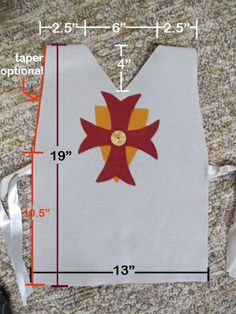 Knight Tunic | No Sew - Good directions.