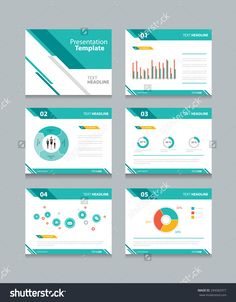 Business Presentation Templates Set Of Vector Infographic
