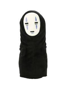 "8"" plush No-Face from the animated film <i>Spirited Away</i>.<ul><li> 8"" tall</li><li>Polyester fibers; polyethylene pellets</li><li>Surface washable</li><li>Imported </li></ul>"