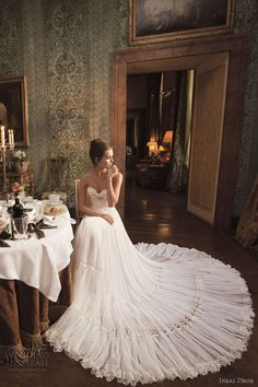 Inbal Dror #white #long #stunning #wedding #dress #bridal