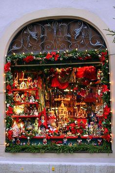 Rothenburg Christmas Window, Germany!!! Beautiful Christmas window!!!