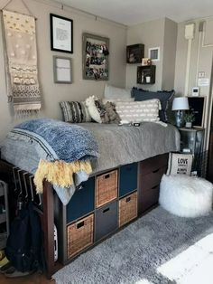 cute dorm room ideas that you need to copy right now 14 – Chambre de Dortoir College Bedroom Decor, Cool Dorm Rooms, College Dorm Decorations, College Dorm Rooms, College House, College Hacks, College Life, Espn College, Junior College