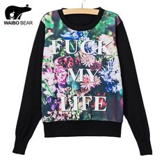 Big flower letters Printed Pullovers Cartoon Sweaters Women Autumn Casual Thin Knitted Sweater Sudaderas Just look, that`s outstanding! http://www.lady-fashion.net/product/waibo-bear-new-arrival-big-flower-letters-printed-pullovers-cartoon-sweaters-women-autumn-casual-thin-knitted-sweater-sudaderas/ #shop #beauty #Woman's fashion #Products