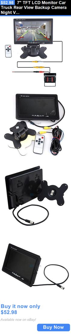 Rear View Monitors Cams and Kits: 7 Tft Lcd Monitor Car Truck Rear View Backup Camera Night Vision Wired Kit BUY IT NOW ONLY: $52.98