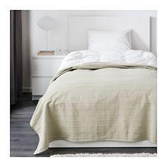 IKEA - FABRINA, Tagesdecke, 150x250 cm, , Stärkere Fäden, mit Baumwolle verwebt, geben der Decke eine lebendige Struktur.