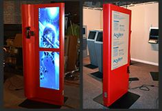 Advanced Kiosks interactive kiosk models for information, marketing, lobbies, check-in and more. Kiosk management software on every self service kiosk! Self Service, Event Calendar, Kiosk, Lead Generation, Promotion, Marketing, Self Care