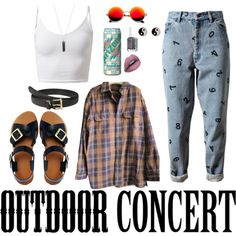 Outdoor Concert Outfit by stellaluna899 on Polyvore featuring polyvore, fashion, style, Timberland, Ashish, ASOS, Accessorize, Karen Kane, Lauren Ralph Lauren and Revo