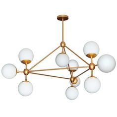 Buy the Dainolite Gold Direct. Shop for the Dainolite Gold Domi 10 Light Wide Abstract Chandelier and save. Sputnik Chandelier, Chandelier Ceiling Lights, Ceiling Fans, Mid Century Modern Chandelier, Modern Gold Chandelier, Chandeliers Modern, Bedroom Chandeliers, White Chandelier, Home Decor Lights