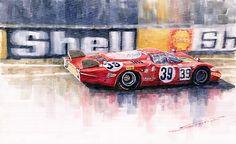 Yuriy Shevchuk-Alfa Romeo T33 B2 Le Mans 24 1968 Galli Giunti