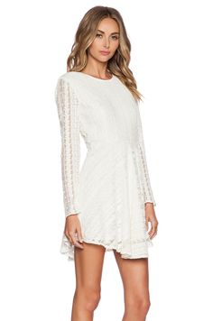 Casual Reception Dress with Blue Manolo Blahnik - Tularosa Solano Dress in Ivory from Revolve Clothing