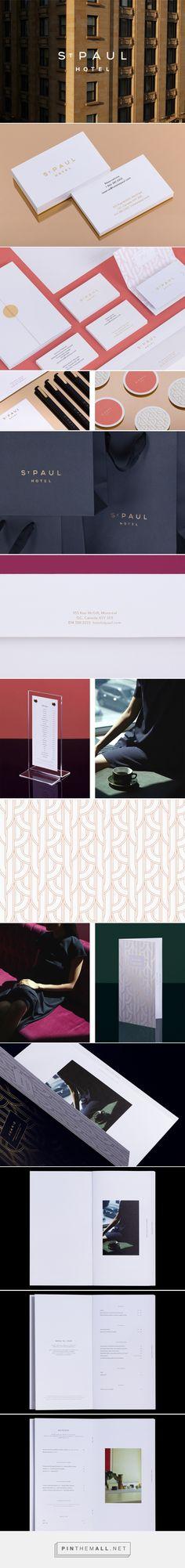 St Paul Hotel / Branding / Logo Design / Minimalist / Minimal / Art Deco / Pattern / Ideas / Inspiration / Business / Hospitality / Modern / Elegant / Timeless / Brand Identity / Brand Design / Luxury / Hotel /