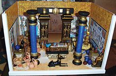 I'm going to make this miniature for the sole reason that it feeds my inner Ancient Egyptian obsessed history geek! Ancient Egypt Crafts, Egyptian Crafts, Egyptian Party, Monster High House, Monster High Birthday, Places In Egypt, 7 Arts, Ancient Myths, Oriental