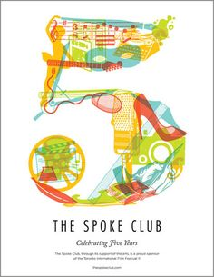 The Canadian Design Resource » Spoke Club Anniversary Poster