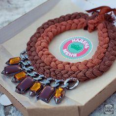 Колье коса Braided jewellery