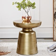 Cosmo Side Table Contemporary Side Tables, Contemporary Living Room Furniture, Modern Furniture, Contemporary Decor, Brass Coffee Table, Modern Coffee Tables, Nordic Living Room, Aluminum Table, Luxury Sofa
