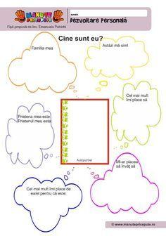 002 - Fise de lucru - Dezvoltare personala Kindergarten Worksheets, Preschool Activities, Visual Perception Activities, Little Einsteins, Fall Art Projects, School Frame, School Lessons, After School, Me On A Map