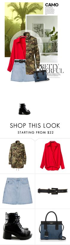 """""""''If you have a problem with me, call me''"""" by crazydita ❤ liked on Polyvore featuring Yves Saint Laurent, AG Adriano Goldschmied, Oscar de la Renta, Kate Spade and camostyle"""