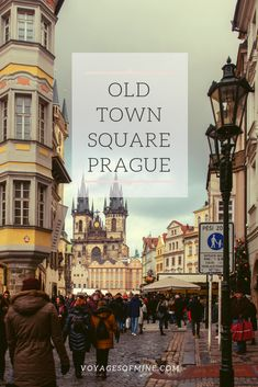 Old Town Square of Prague Czechia is one of the most breath taking things to see in Eastern Europe. Read all about the things to do in Old Town Square with this helpful guide. #travel #travelinspo #prague #czechia #europetravel #voyagesofmine