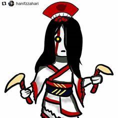 Cute Izanami fan art by @hanifzzahari #smitegame