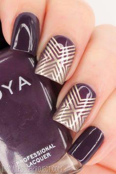 The Nail Polish Project Plate: MoYou Holy Shapes Fall Nail Art Designs, Beautiful Nail Designs, Beautiful Nail Art, Fingernails Painted, Geometric Nail Art, Nails Only, Stamping Nail Art, Easy Nail Art, Creative Nails