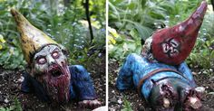 Your Neighbors Will Love These Zombie Garden Gnomes | Bored Panda