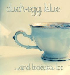 Duck egg blue...wish I could work this color into my home decor! LOVE it!!