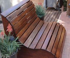 This slatted garden bench makes the perfect love seat for a garden. It's very easy to make. YOU WILL NEED:1 of 900 x 900mm 16mm marine plywood*7 of 20 x 94mm PAR pine - cut to 1040mm length12 of 20 x 69mm PAR pine - 3 cut to 1000mm length - 9 cut to 1040mm length5 x 50mm cut screwsWood glueWood filler (tinted for finished colour)Wood sealerMineral turpentineRagsTOOLS:Drill / Driver plus assorted bitsJigsaw and clean-cut bladeOrbital sander plus 60-, 120- and 240-grit sanding…
