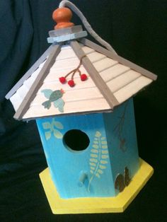 My adorable bird house on Etsy! $15.00 http://www.etsy.com/people/chloehaney