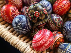 Painted Easter eggs are for sale at the annual Sorbian Easter market March 16 in Schleife, Germany. Easter is a particularly important time of year for Sorbs, a Slavic minority in eastern Germany, and their traditional painted Easter eggs are used to ward off evil.