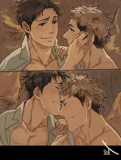 Attack on Titan ~~ Forthright kisses in the hay :: Marco x Jean
