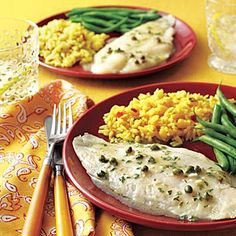 Baked Herbed Fish Fillets | MyRecipes.com   This is a great dish for the microwave! Make the lemon butter sauce in micro in pan you will use for fish. Place fish in it and nuke for 2 to 3 minutes. Check for doneness. If necessary to cook longer, nuke in l min. intervals until done.