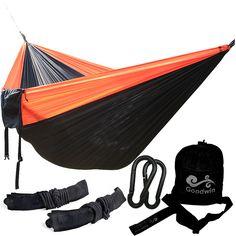Podwójne Osoba Hamak Hamak Spadochron Portable Outdoor Camping Kryty Ogród Przydomowy Spania Łóżko 300 kg Max Załadunku Darmowa Wysyłka