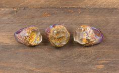 Sara Lewis flower geode rings