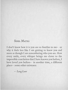 Soul Mates by Lang Leav
