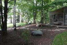 Shredded hardwood Modern Landscape Design, Modern Landscaping, Melbourne Garden, Garden Show, Hardwood, Chips, Layout, Display, Nature