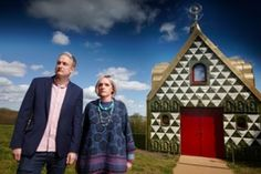 'We were concerned that it wasn't pure fairytale': Charles Holland of architects FAT with Grayson Perry as Julie outside A House for Essex. Grayson Perry, Turner Prize, Contemporary Artists, Holland, Fairy Tales, Exterior, Pure Products, House Styles, World