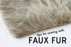 see kate sew: sewing 101: tips for sewing with faux fur + where to buy it