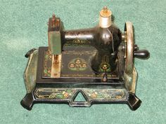 Antique Toy Cast Iron Sewing Machine Made in Germany | eBay