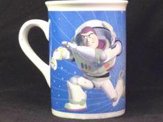 Disney Pixar Buzz Lightyear Coffee Mug Cup Heros Of The Universe Tea Collectible
